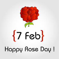 Happy Rose day  von Shawlin Mohd