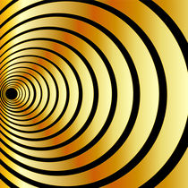 Gold optical illusion  von Shawlin Mohd