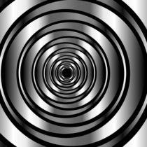 High tech metallic ring background- optical illusion  by Shawlin Mohd