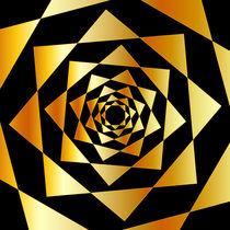 Arabesque motif on black background  by Shawlin I