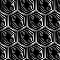 Silver hexagonal optical illusion  by Shawlin Mohd
