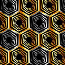 'Golden and silver hexagonal background ' by Shawlin I