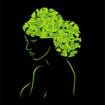 Hair with leaves  by Shawlin I