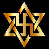 The Raelians symbol in gold  by Shawlin Mohd