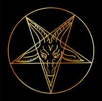 Golden sigil of Baphomet- Satanism symbol  von Shawlin Mohd