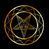 Golden sigil of Baphomet  by Shawlin Mohd