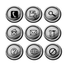 Grey circular buttons by Shawlin Mohd