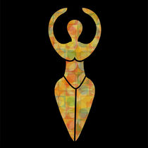 Symbol of the Wiccan goddess  by Shawlin Mohd