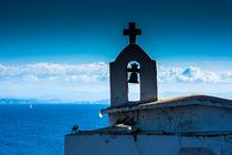 Kirchturm über Wasser von Sonja  Bausr