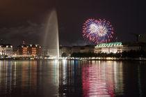 Feuerwerk an der Binnenalster by Borg Enders