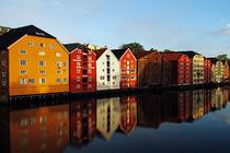 Holzhäuser in Trondheim von Borg Enders