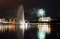 Binnenalster Feuerwerk by Borg Enders