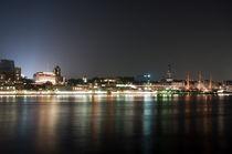 Landungsbrücken bei Nacht by Borg Enders