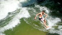 Der Surfer von hibiskus