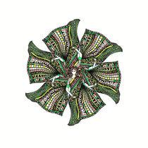 woman sari mandala