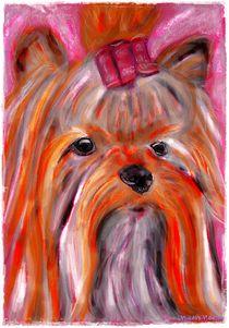~ Pink Yorki Lady ~ by Sandra  Vollmann