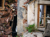 an old decayed, destroyed and abandoned house by nese