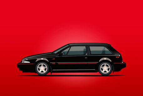 Volvo-480-turbo-black-poster