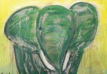 Grüner Elefant von Uschi Stoffels