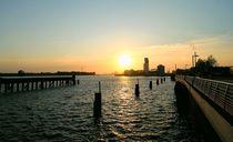 Sunset on the Weser by Heidi Piirto