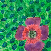 Single Purple Flower by Heidi  Capitaine