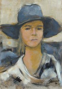 Frau mit Hut von alfons niex