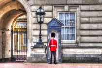Buckingham Palace Queens Guard Art by David Pyatt