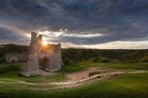 Pennard castle Sunset von Leighton Collins