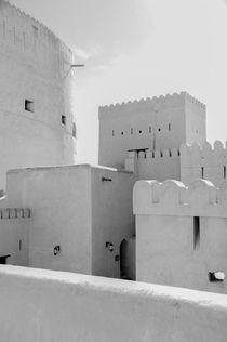 Festung Nizwa, Oman in schwarz-weiß von ysanne