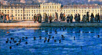 Palace of Schoenbrunn in winter by Leopold Brix