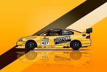 Illu-holden-monaro-427-yellow-poster