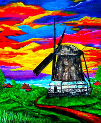 Windmühle in Ostfriesland von Eberhard Schmidt-Dranske
