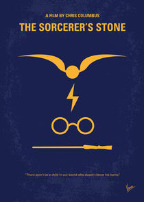 No101-1 My HP - SORCERERS STONE minimal movie poster von chungkong