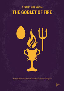 No101-4 My HP - GOBLET OF FIRE minimal movie poster von chungkong
