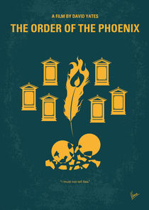 No101-5 My HP - ORDER OF THE PHOENIX minimal movie poster von chungkong