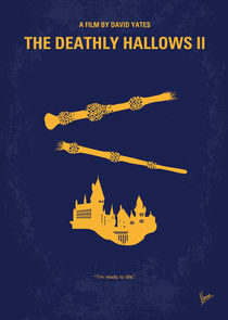 No101-8 My HP - DEATHLY HALLOWS II minimal movie poster von chungkong