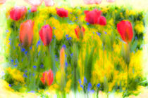 Pastel Summer Flowers  by David Pyatt