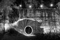Lightpainting in schwarzweiß by denicolofotografie