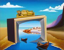 Crossing measurements.70-90 cm. canvas, oil. by Vasiliy Zherebilo