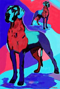 Bunte-dogge-doppelt-rot