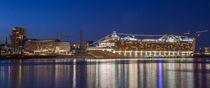 Kreuzfahrtschiff in Blaue Stunde von photobiahamburg