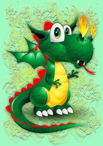 Dragon Cute Baby Cartoon Character by bluedarkart-lem