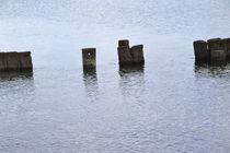 Pfähle im Wasser von Corinna Ruland