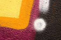 Detail of a graffiti as wallpaper, texture von Christian Zirsky