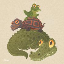 Gator-turtle-frog-bg