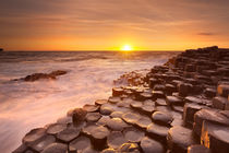 The Giant's Causeway in Northern Ireland at sunset by Sara Winter