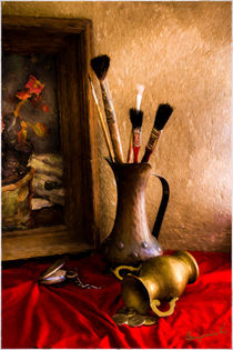 Painting  brushes and bronze jugs by Benjamin Gelman