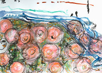 Watered Roses by Heidi  Capitaine