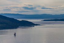 Saling vessel off the coast of Scotland