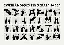 Zweihändiges Fingeralphabet von Iris Luckhaus